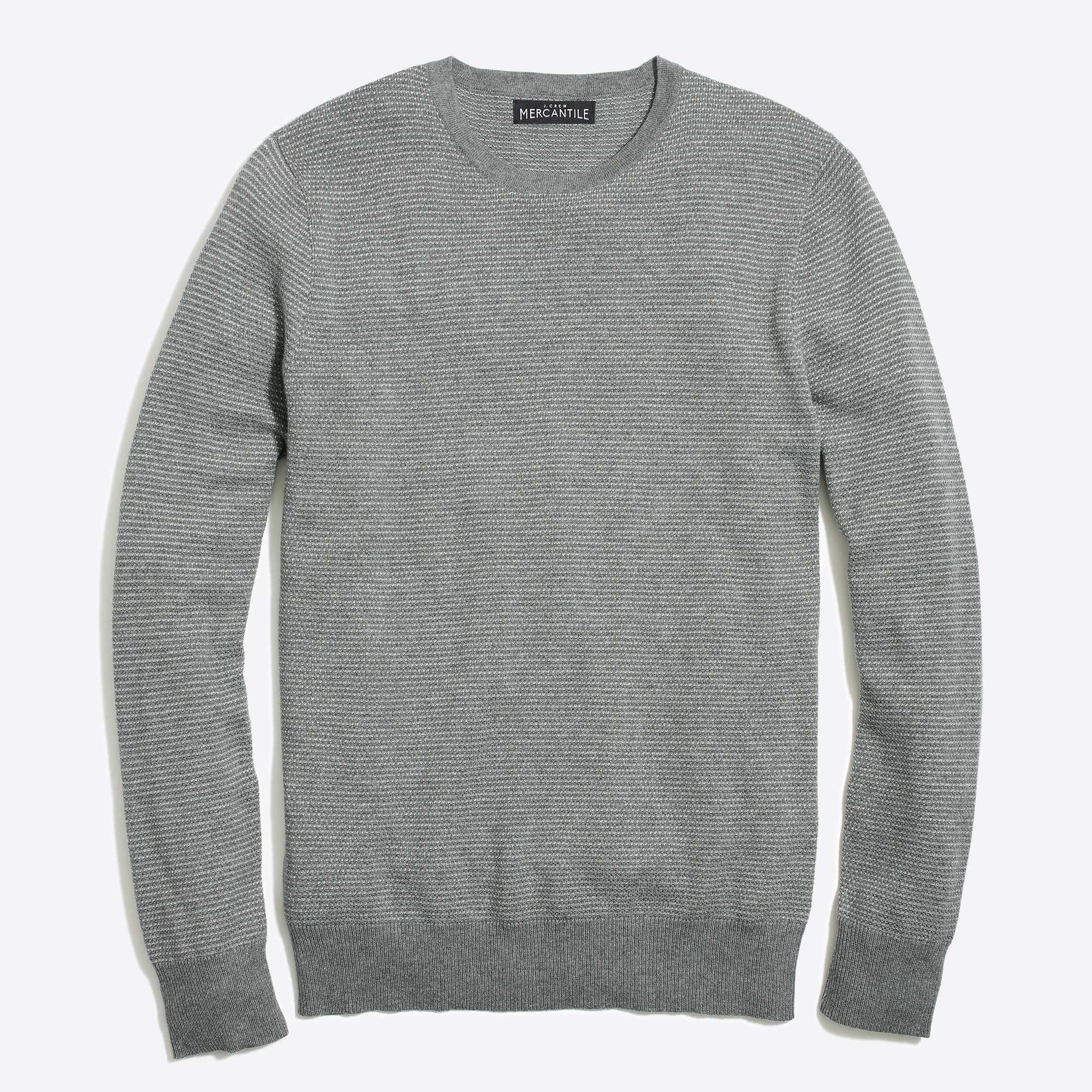 Image 2 for Slim-fit cotton piqué sweater in birdseye
