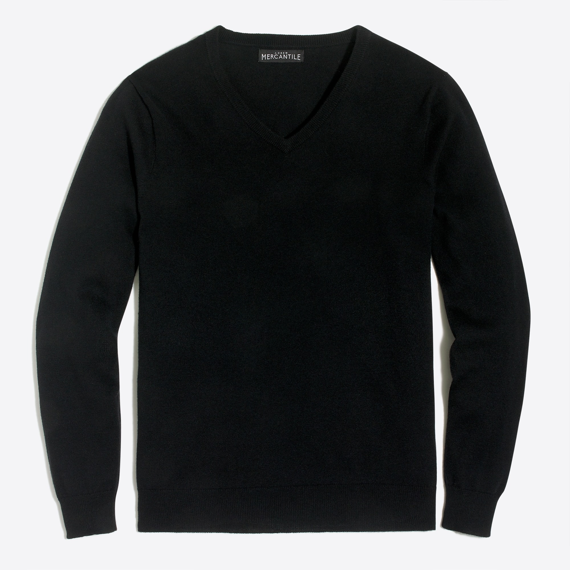 factory mens V-neck sweater in perfect merino blend