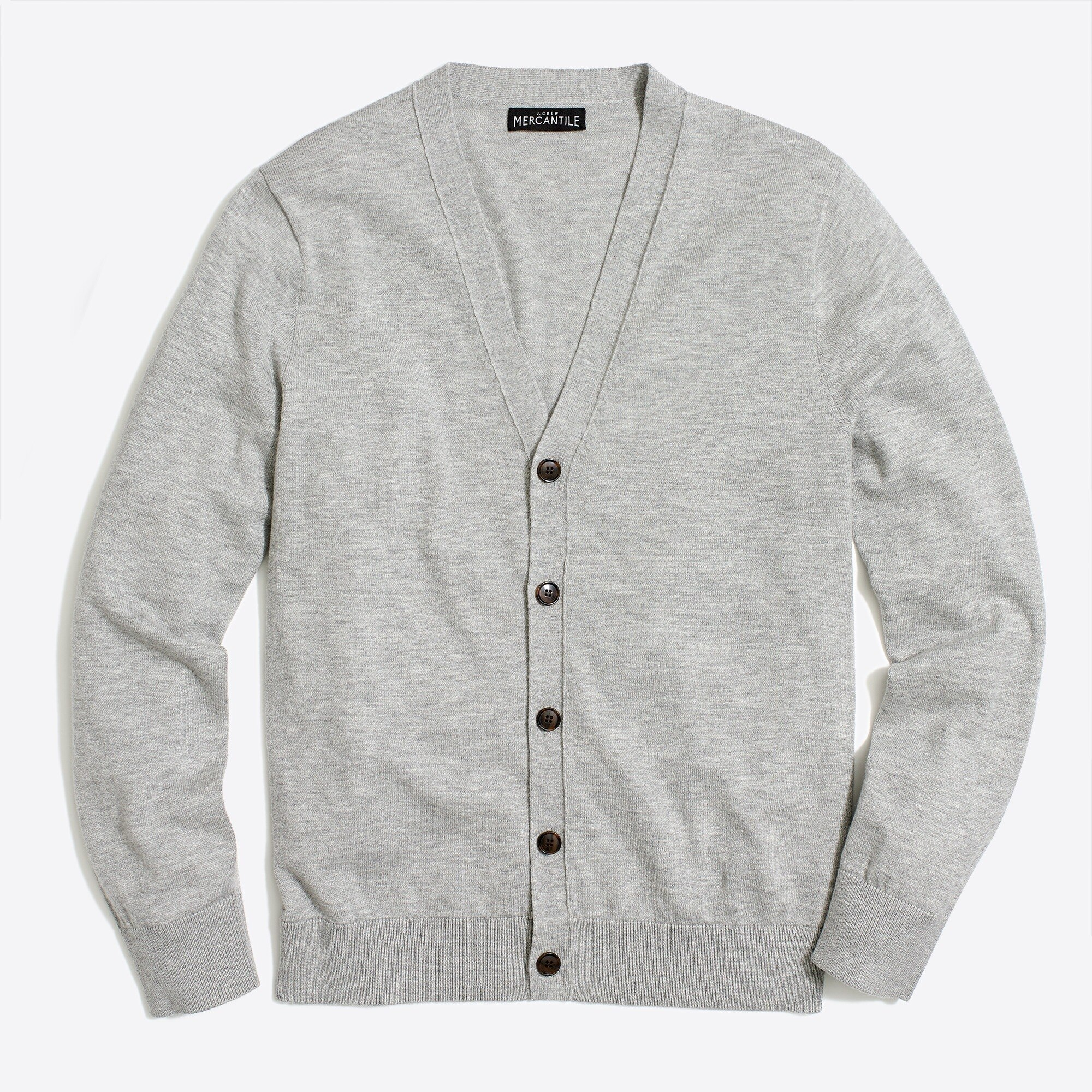 factory mens Cardigan sweater in perfect merino blend
