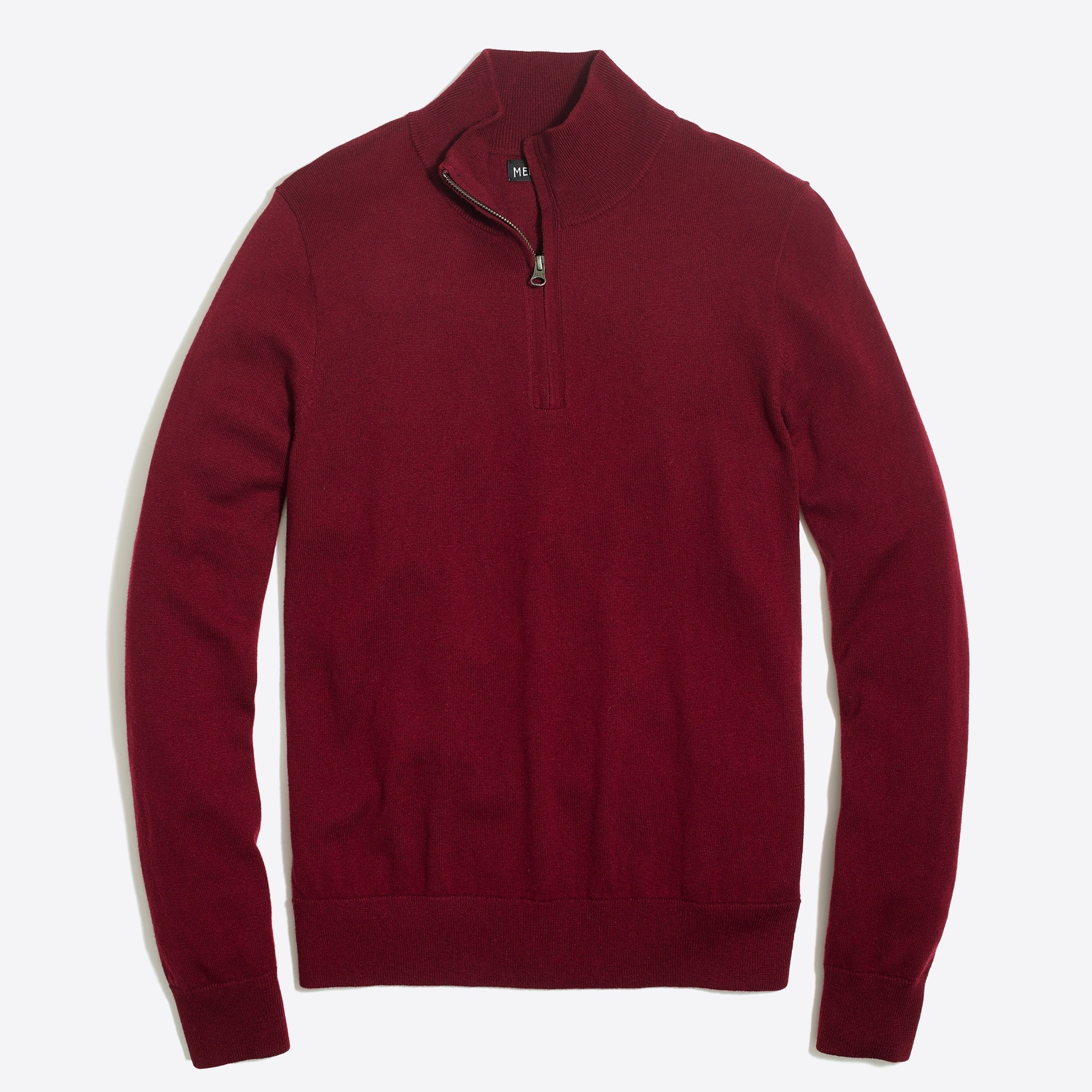 factory mens Half-zip sweater in perfect merino blend