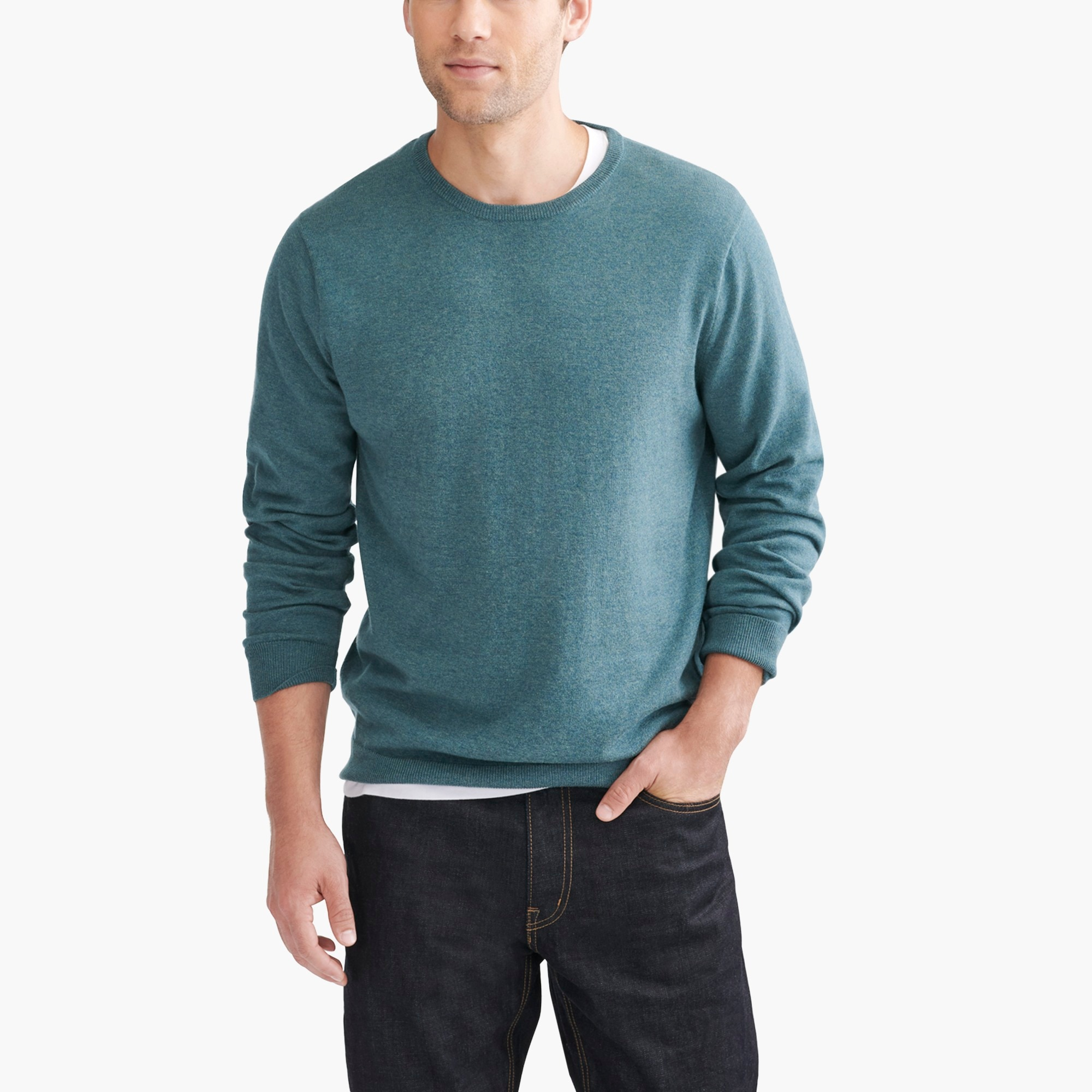 factory mens Slim-fit crewneck sweater in perfect merino blend