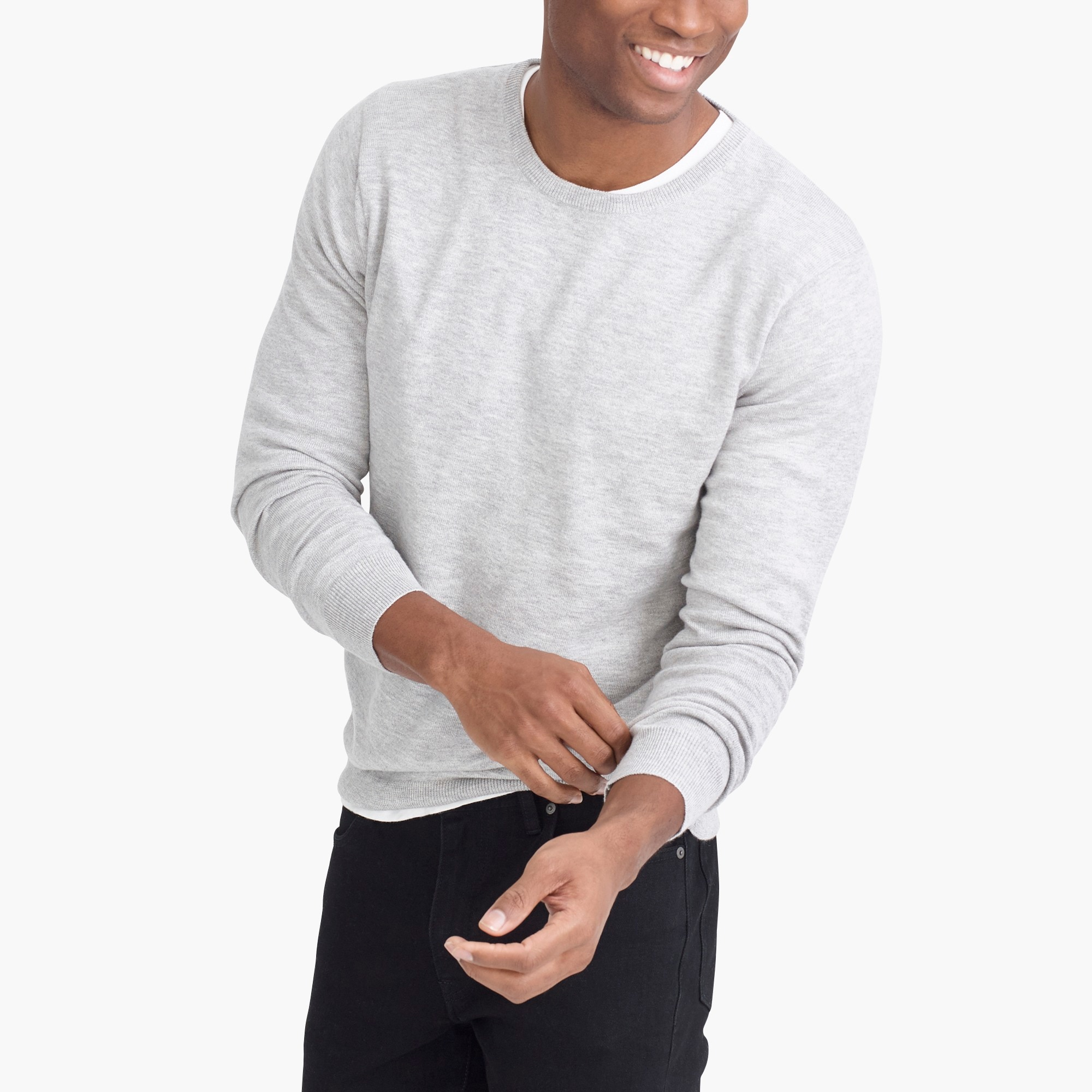 factory mens Crewneck sweater in perfect merino blend
