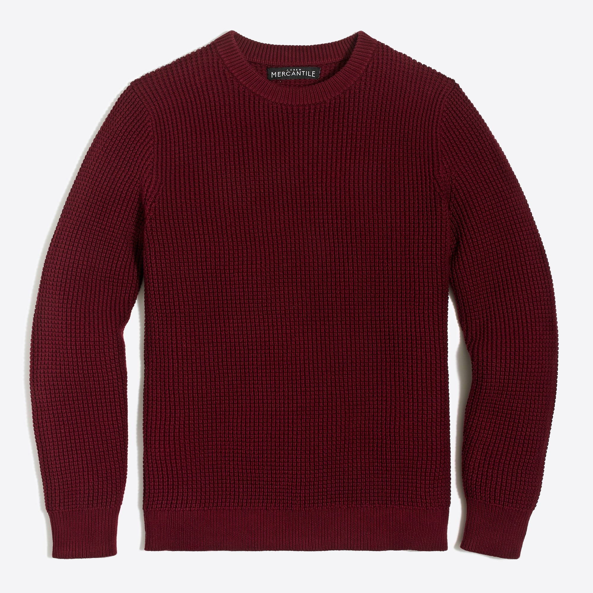 factory mens Cotton waffle crewneck sweater