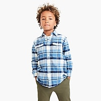 Boys' long-sleeve flannel shirt