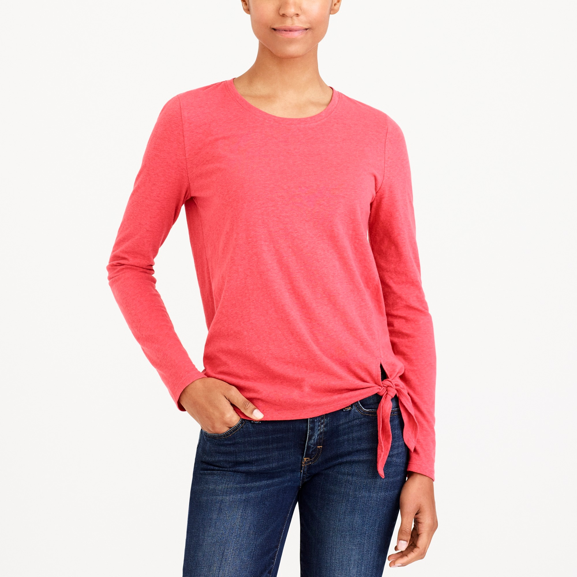 long-sleeve side-tie t-shirt : factorywomen long sleeve