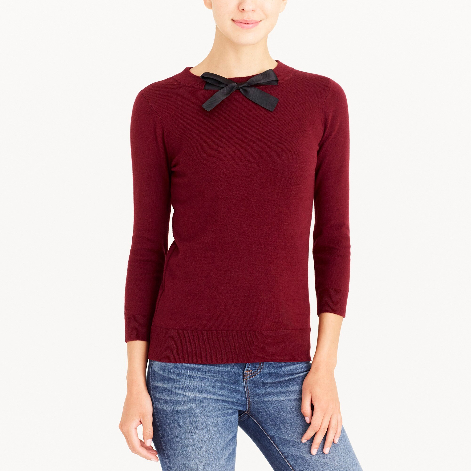 factory womens Bow-neck sweater