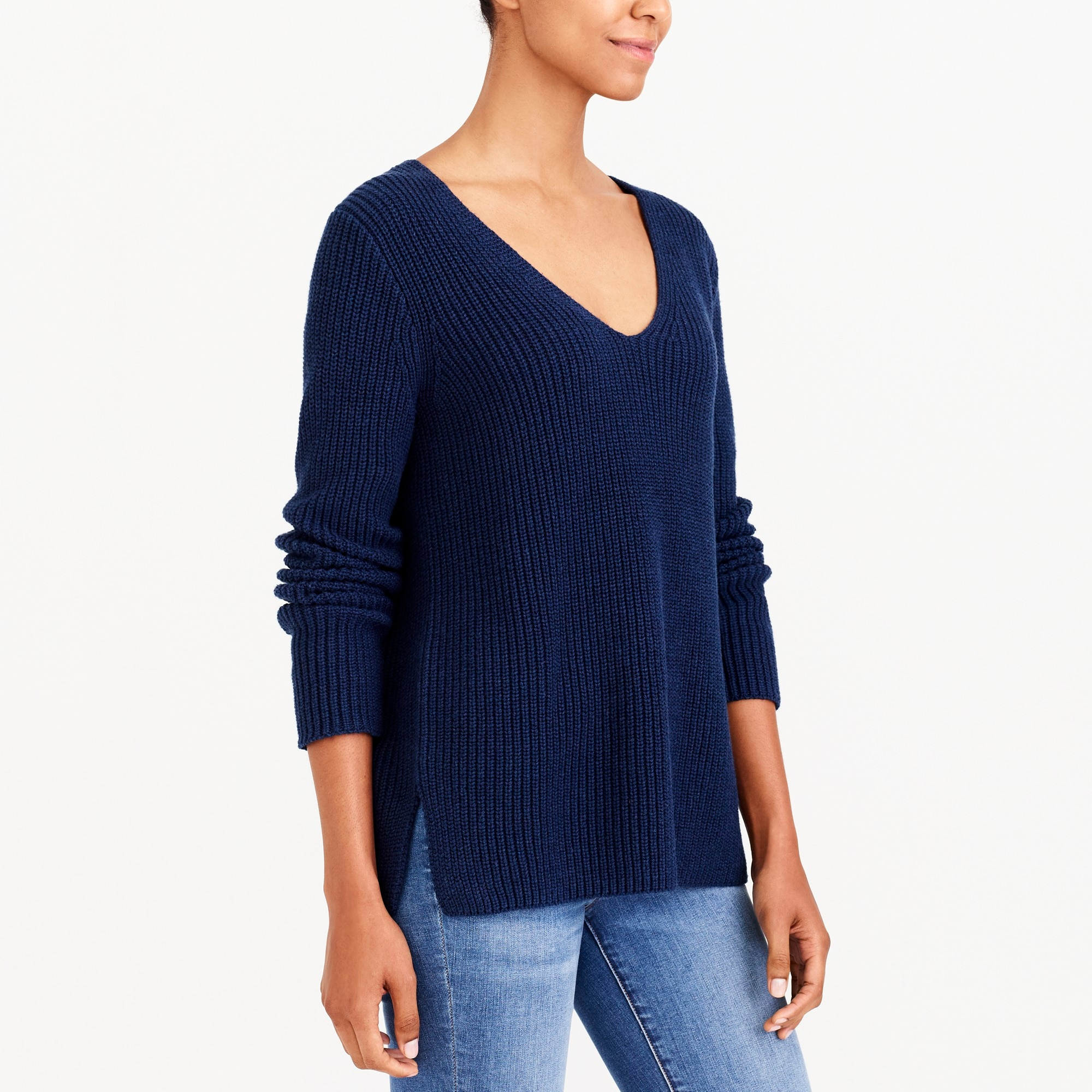 Heather V-neck pullover sweater