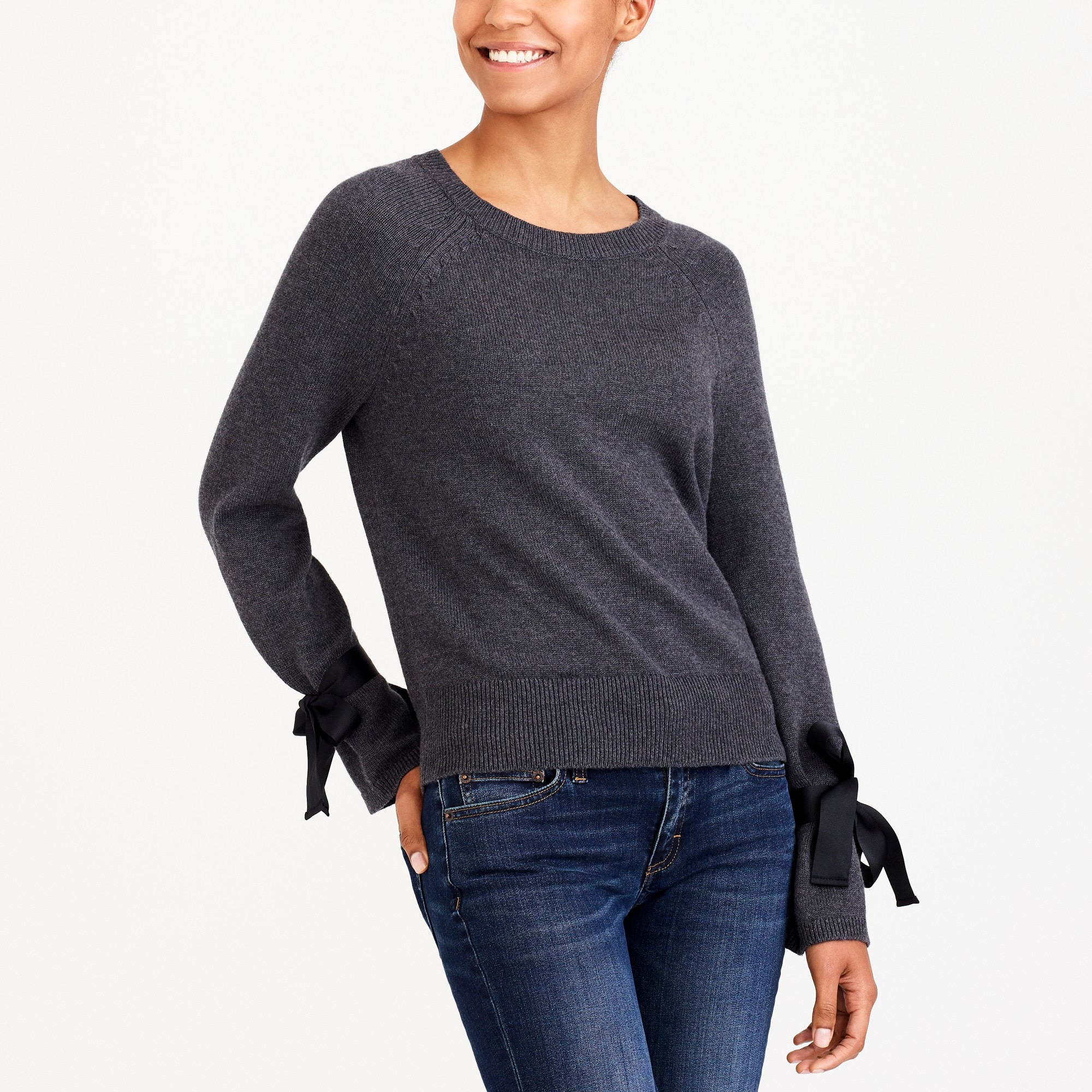 Tie Bell Sleeve Pullover Sweater by J.Crew