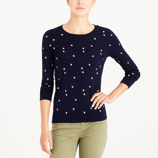 j.crew factory: starry teddie sweater