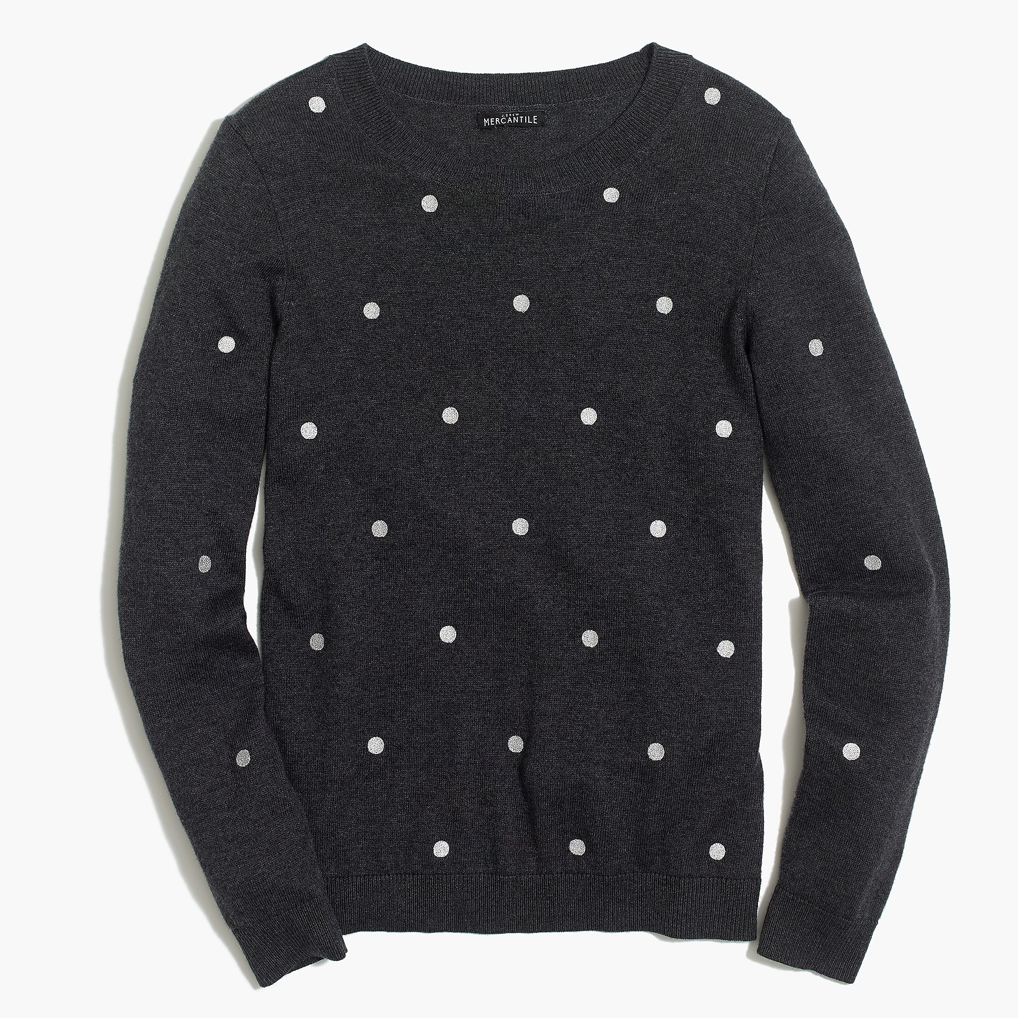 Womens Polka Dot Teddie Sweater Womens Sweaters Jcrew