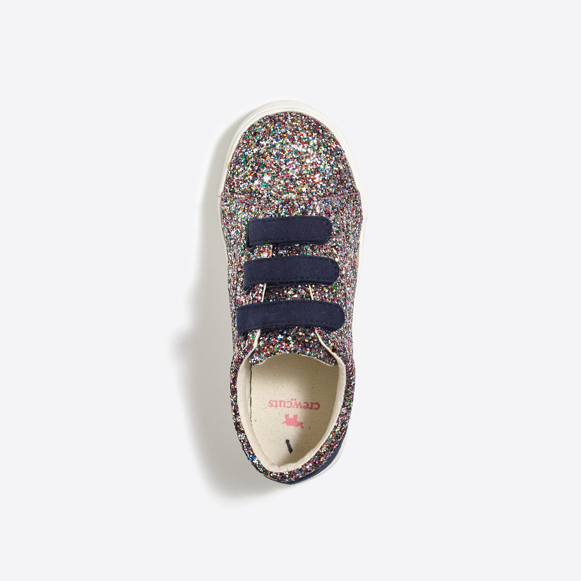 Girls' glitter Velcro® sneakers