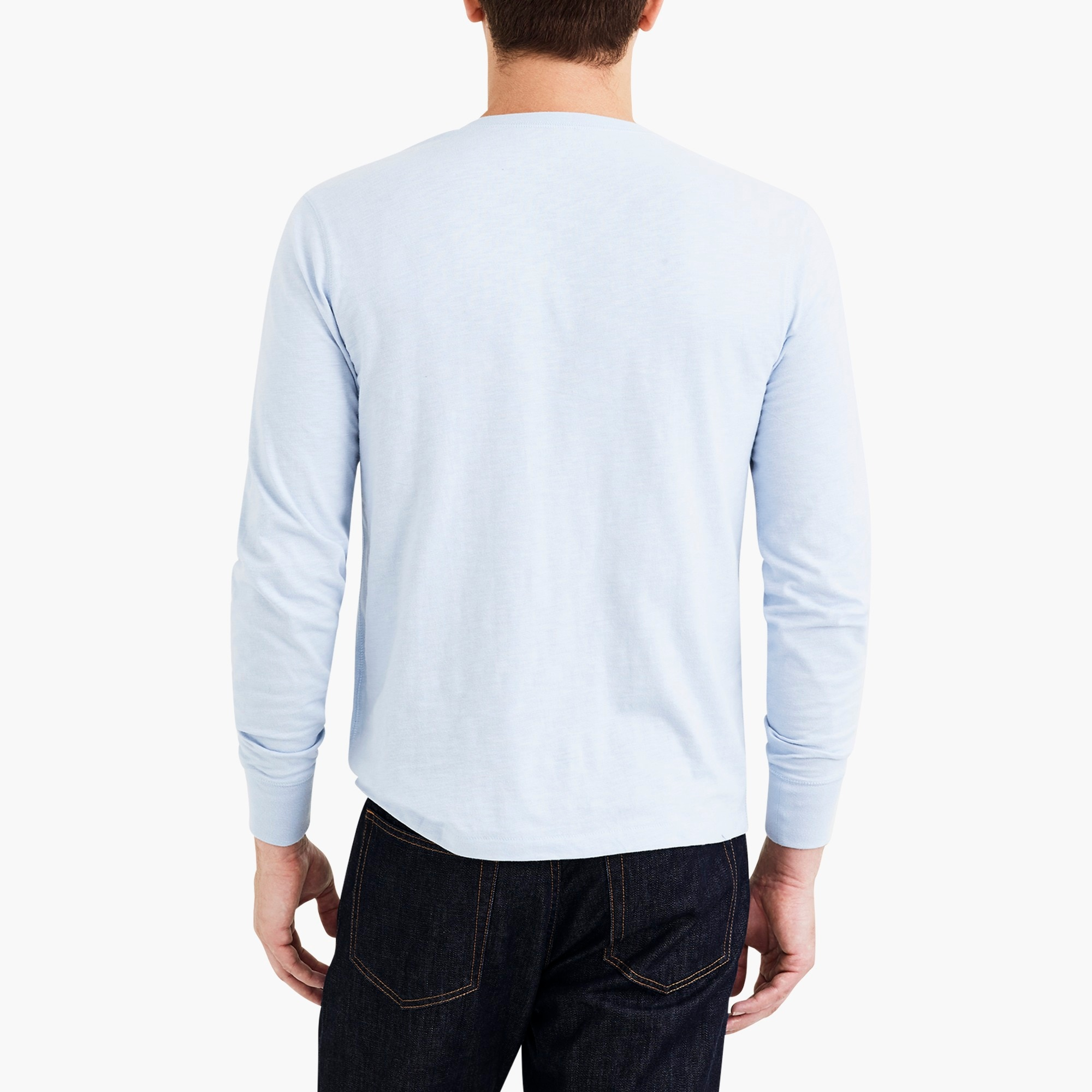 Image 2 for Long-sleeve slub cotton henley