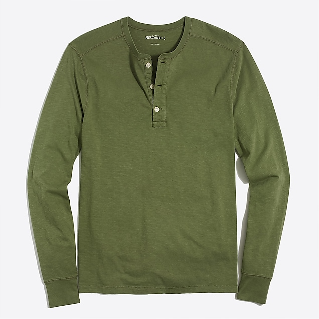 j.crew factory: long-sleeve sunwashed henley