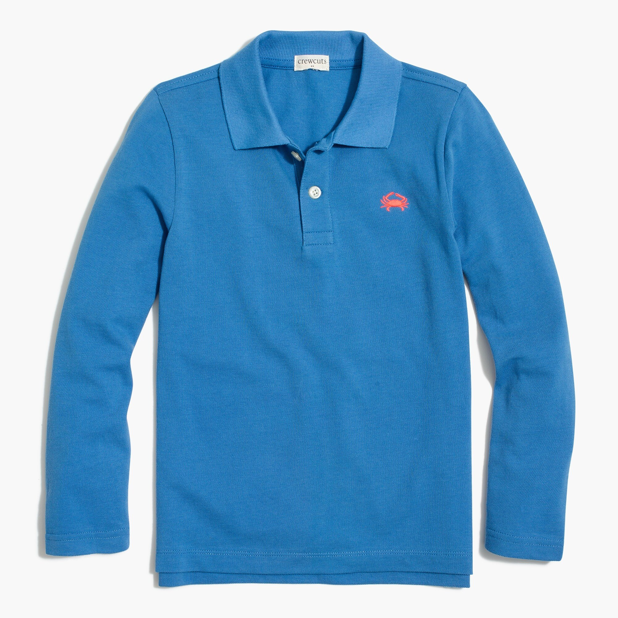 factory boys Boys' long-sleeve critter piqué polo