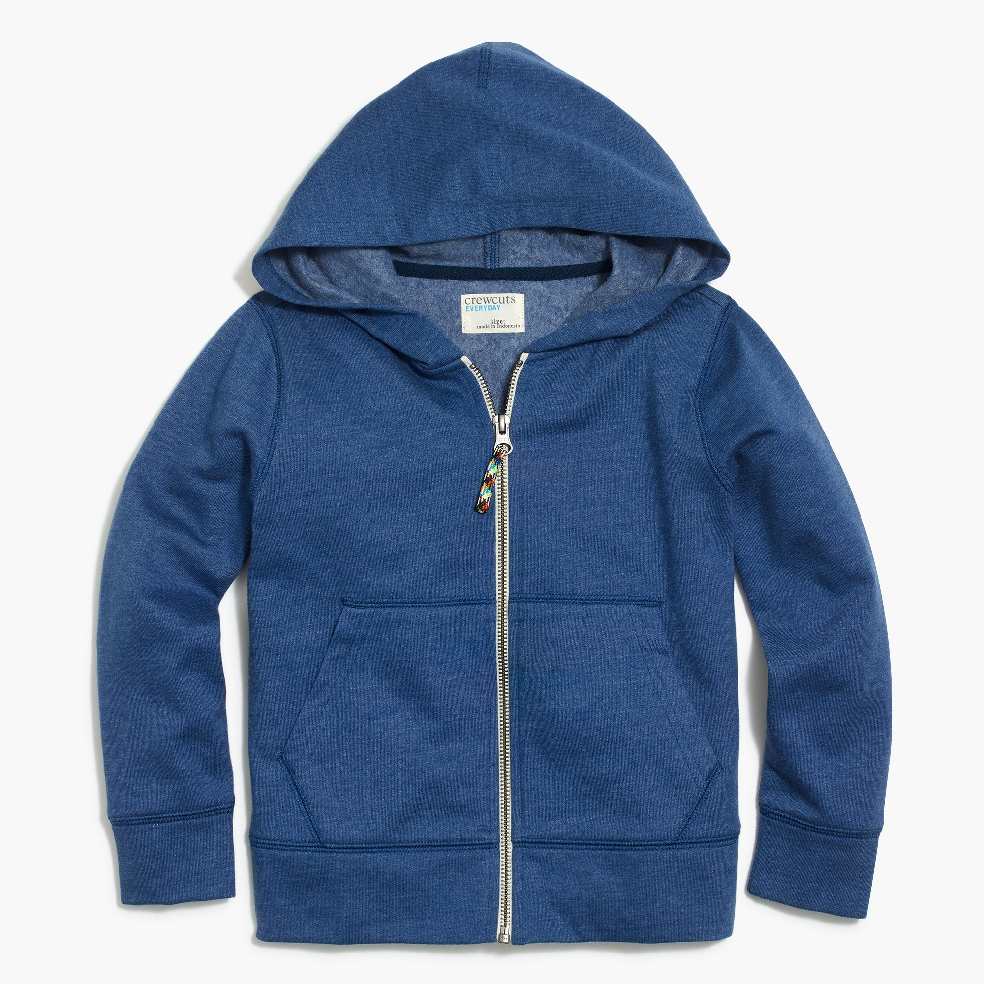 kids' long-sleeve full-zip hoodie with contrast cord : factorygirls sweatshirts