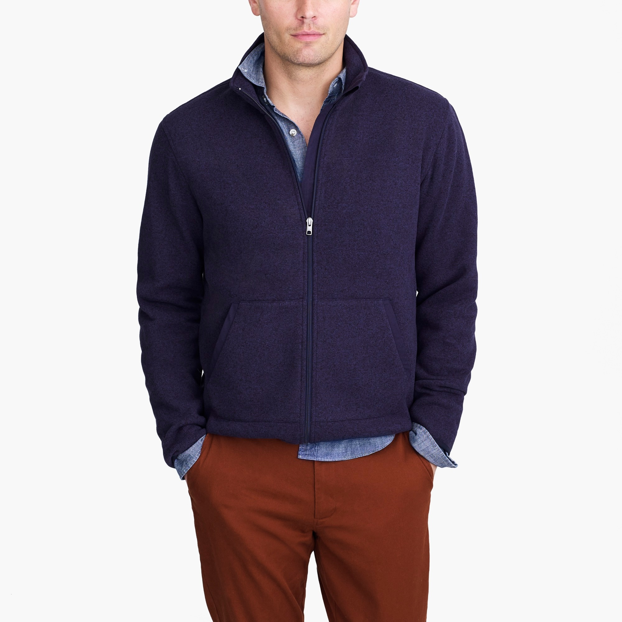 factory mens Sweater fleece full-zip