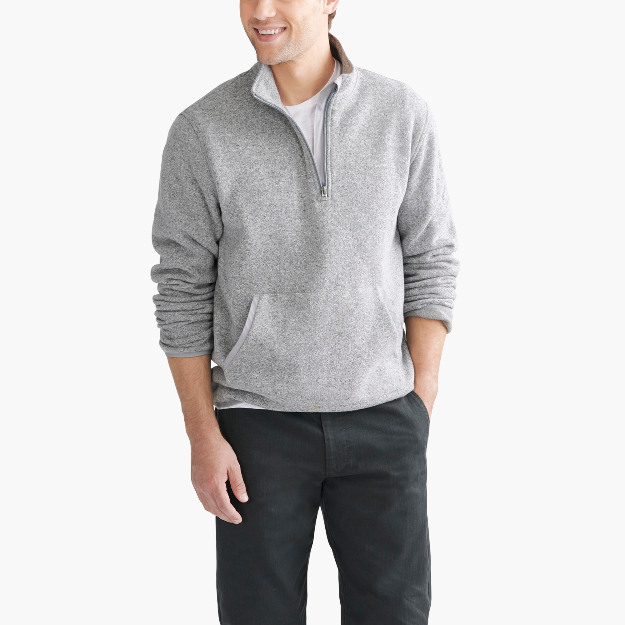 Sweater fleece half-zip