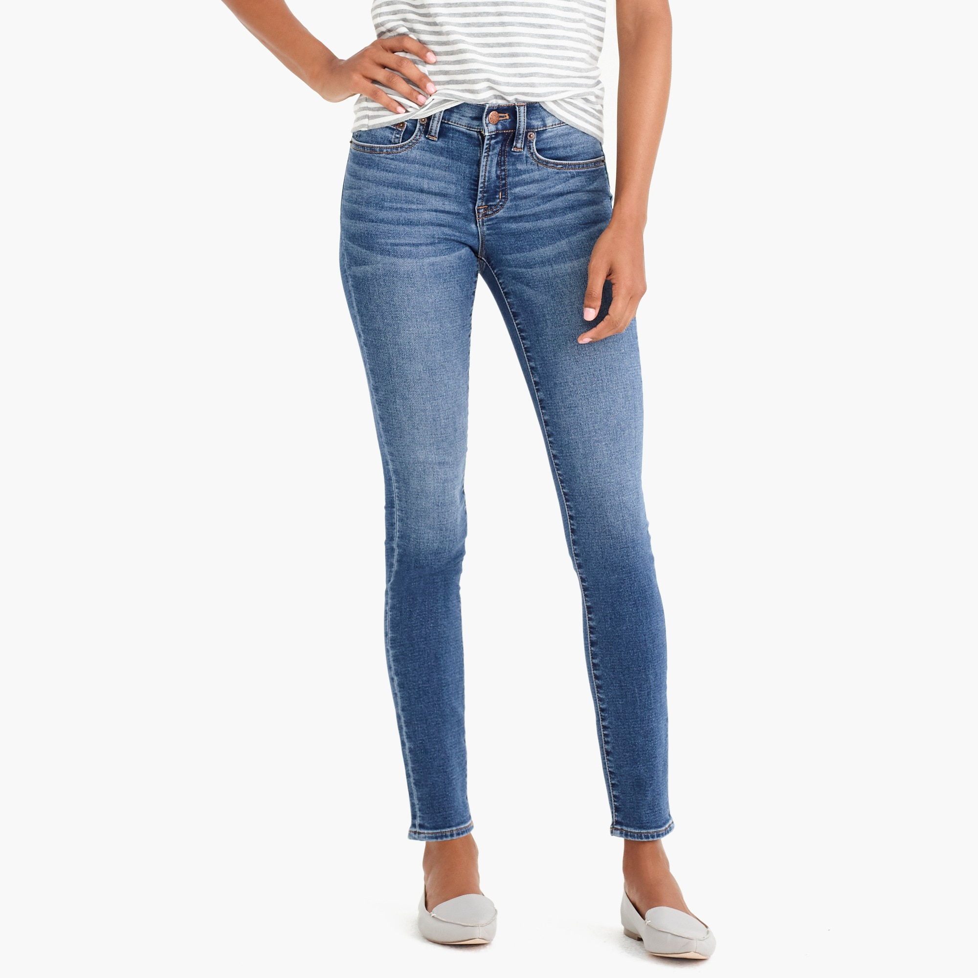 "8"" anywhere skinny jean in astoria wash : factorywomen 8"" midrise skinny"