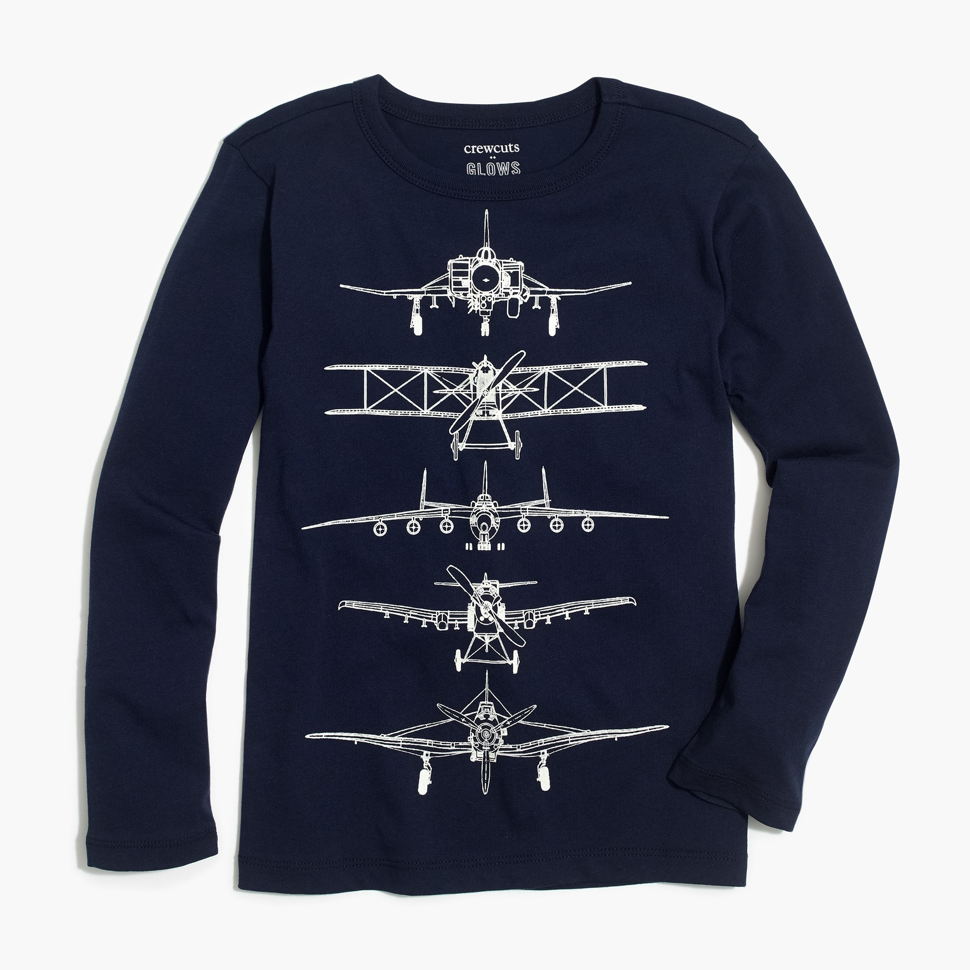 factory boys Boys' glow-in-the-dark planes graphic T-shirt
