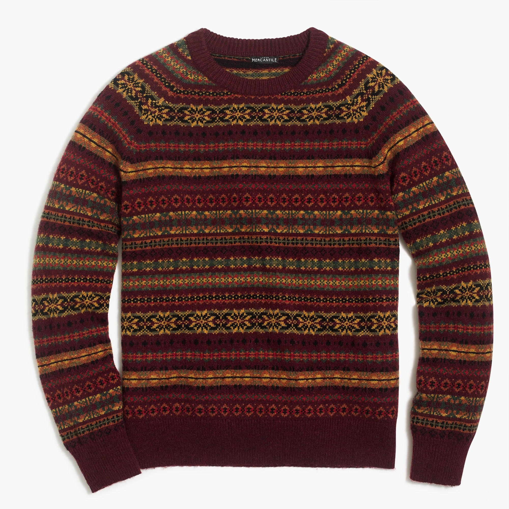 Fair Isle Crewneck Sweater In Supersoft Wool Blend by J.Crew