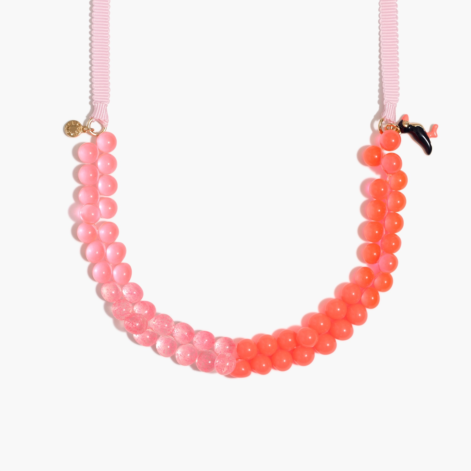 Girls' two-tone gumball necklace