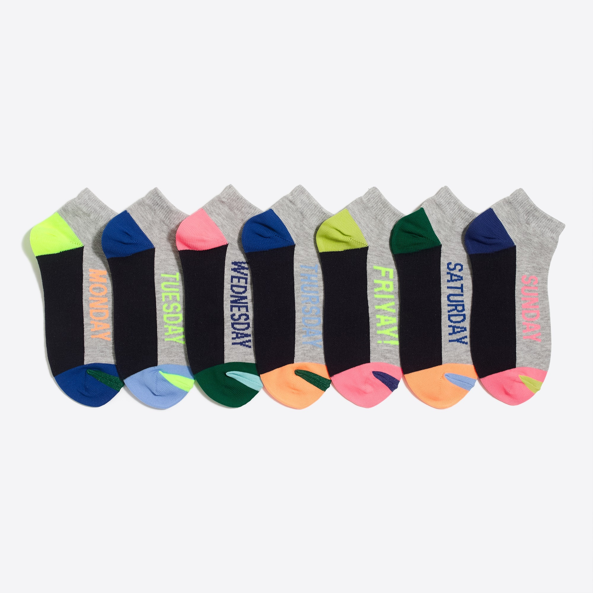 Image 1 for Girls' days-of-the-week socks three-pack