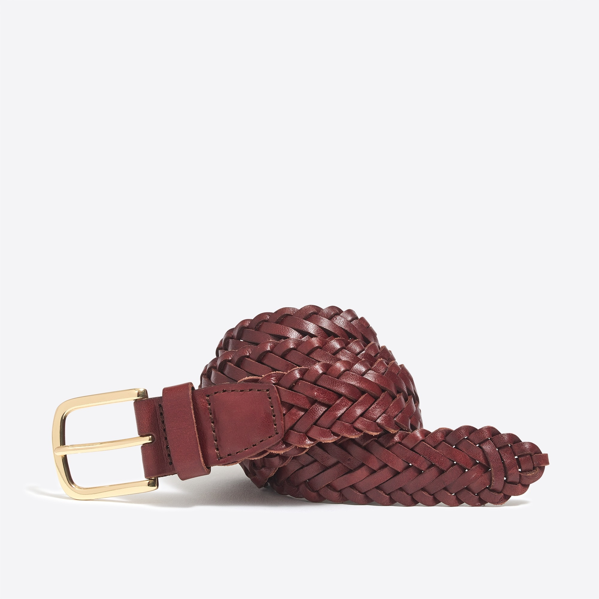 factory mens Leather braided belt