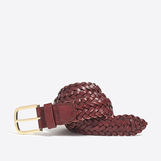 j.crew factory: leather braided belt