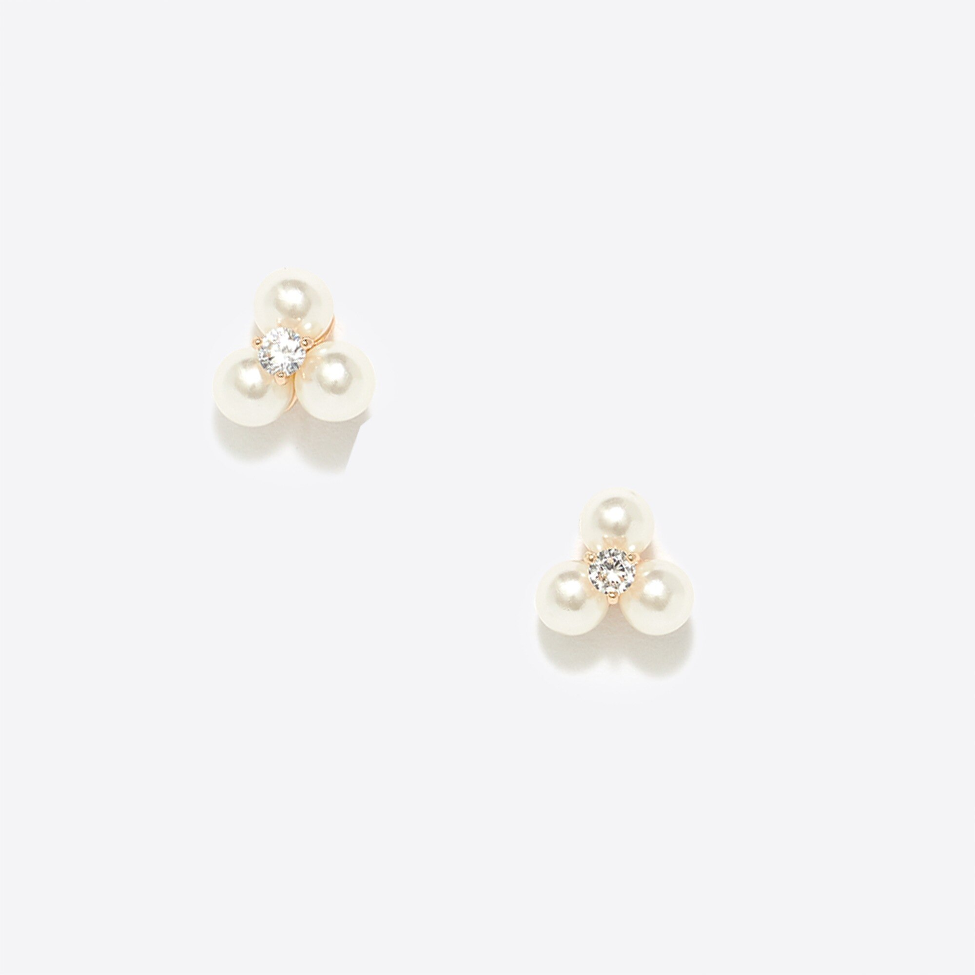 factory womens Three pearl stud earrings