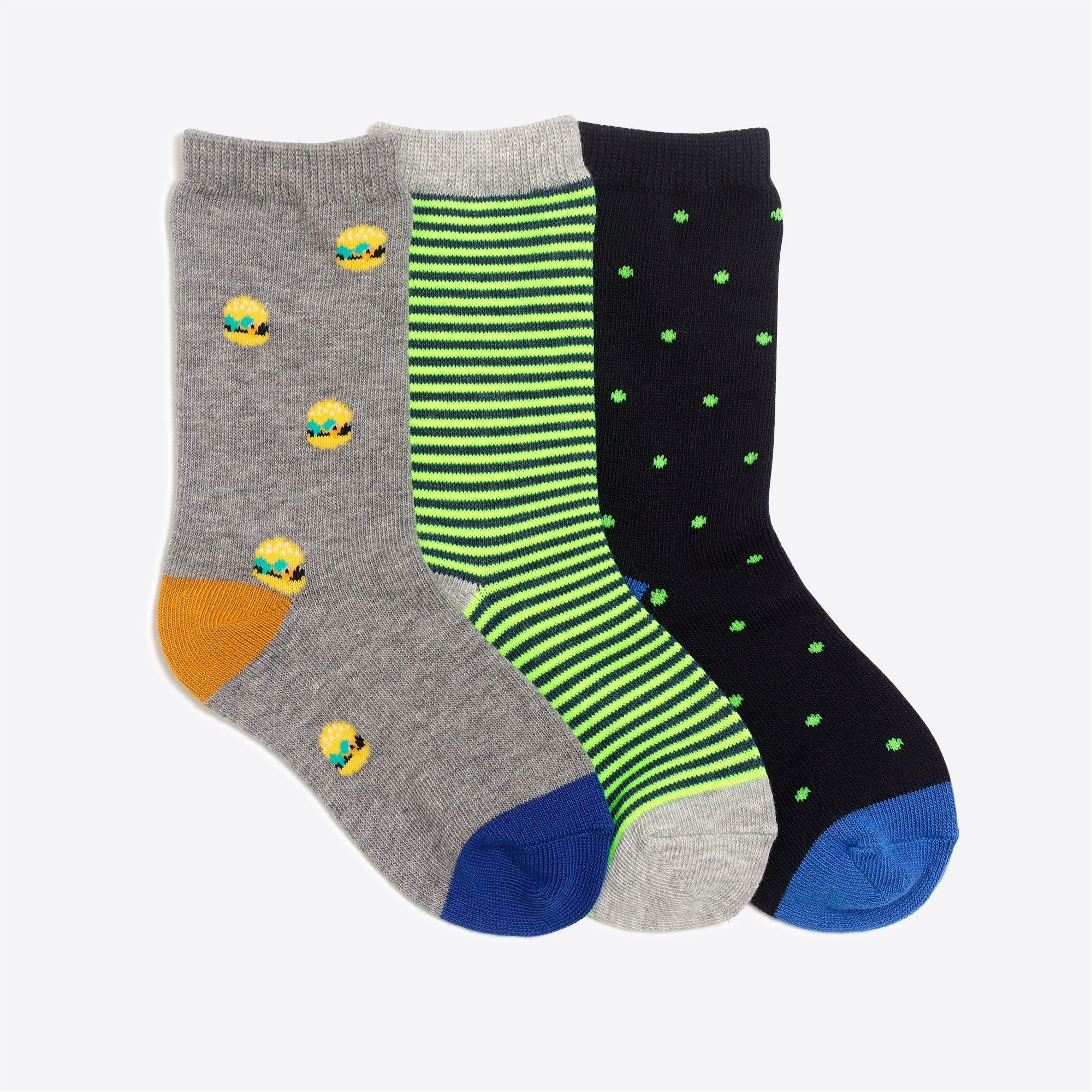 factory boys Boys' dot burger trouser socks three-pack
