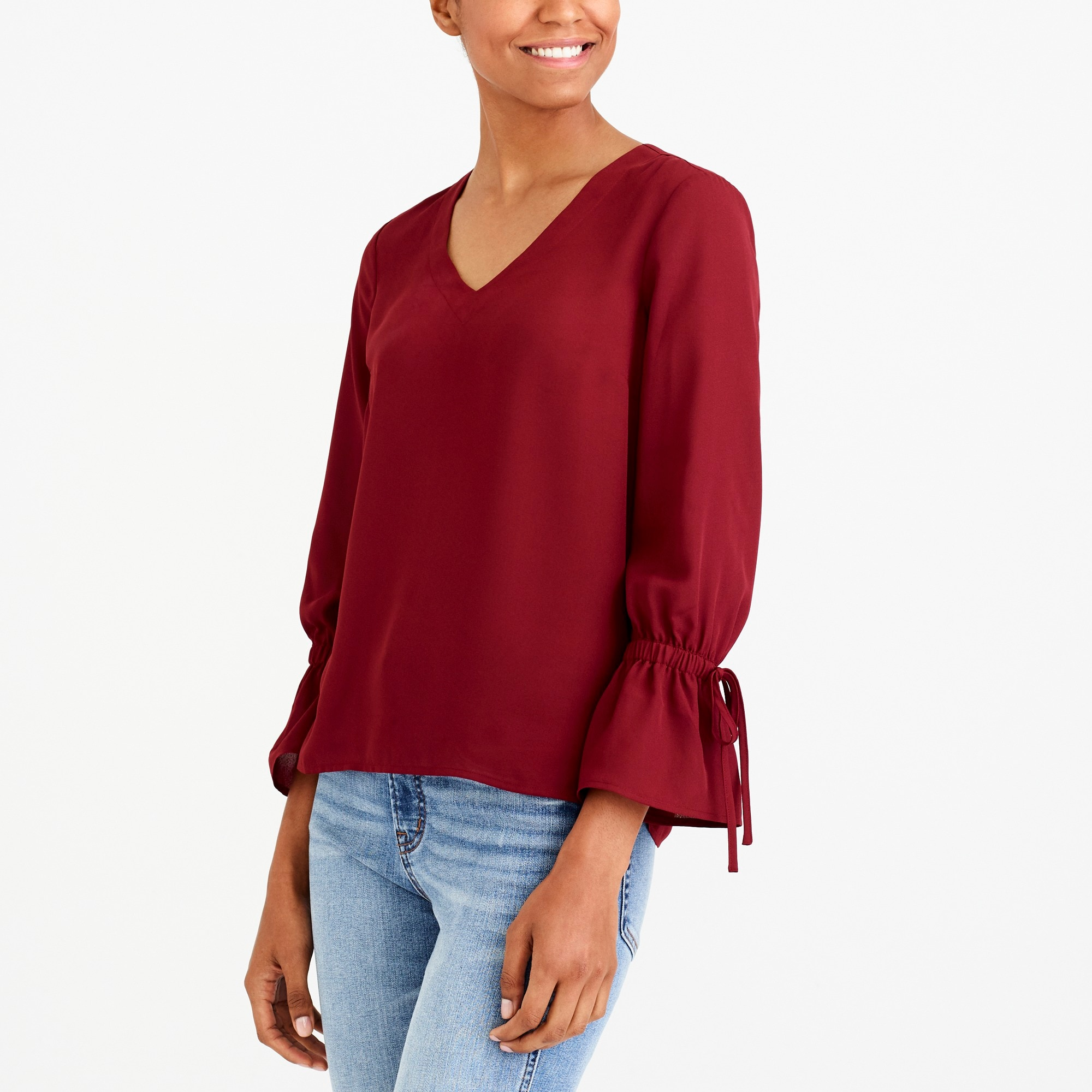 Bow-sleeve top