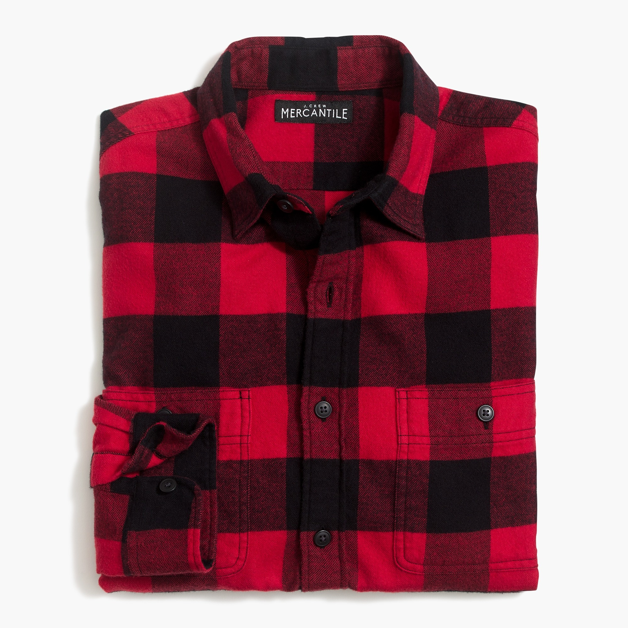 flannel shirt in buffalo check : factorymen flannel