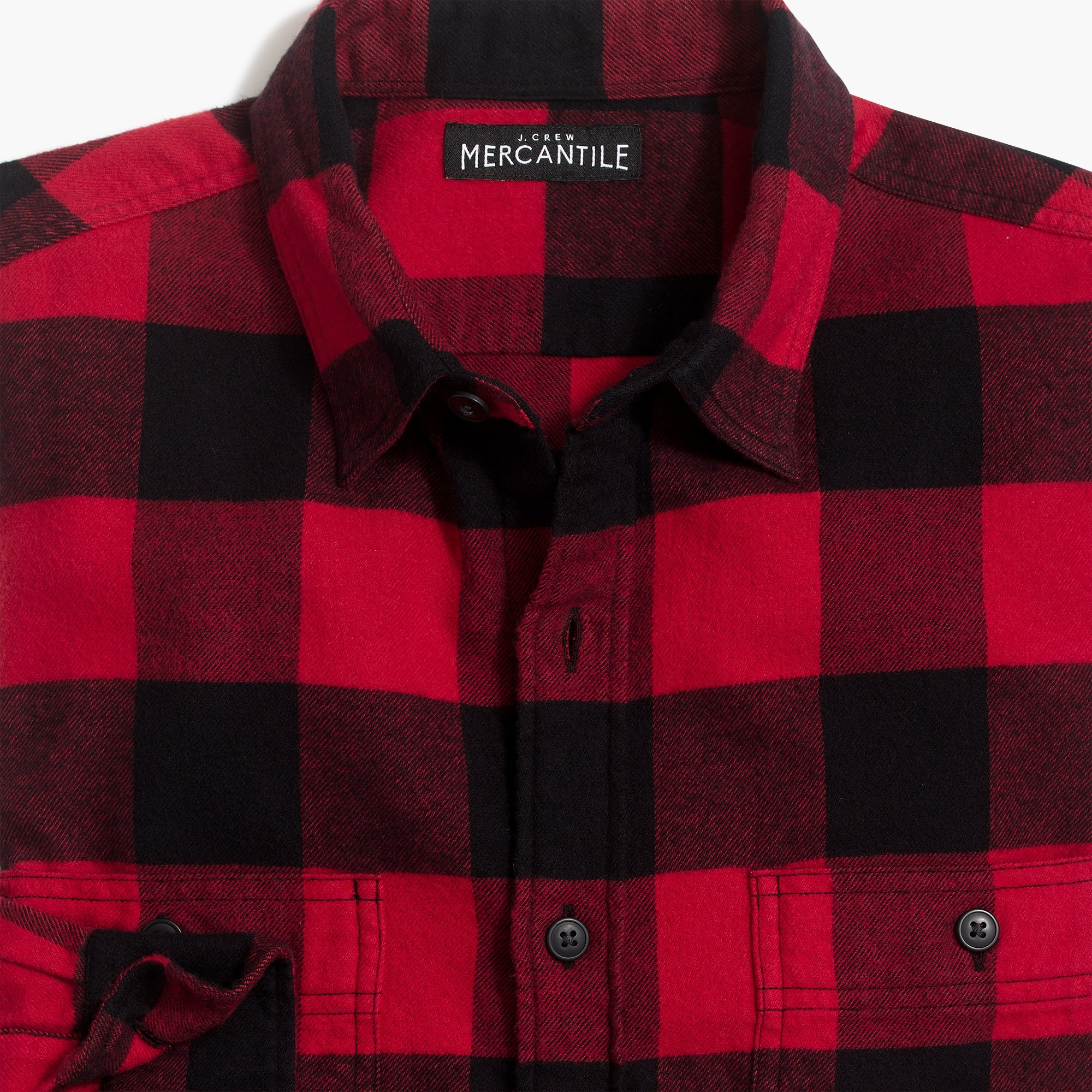 slim-fit flannel shirt in buffalo check : factorymen flannel