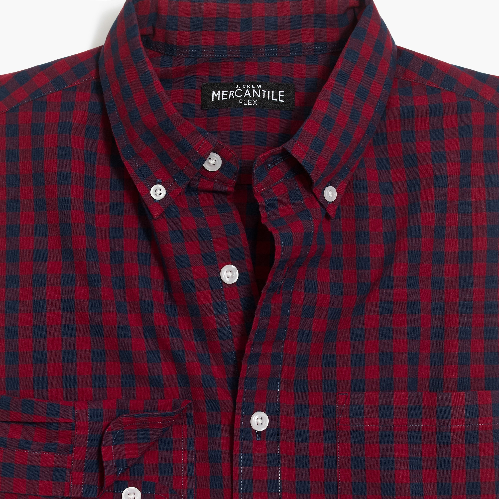 Image 4 for Classic flex washed shirt in gingham