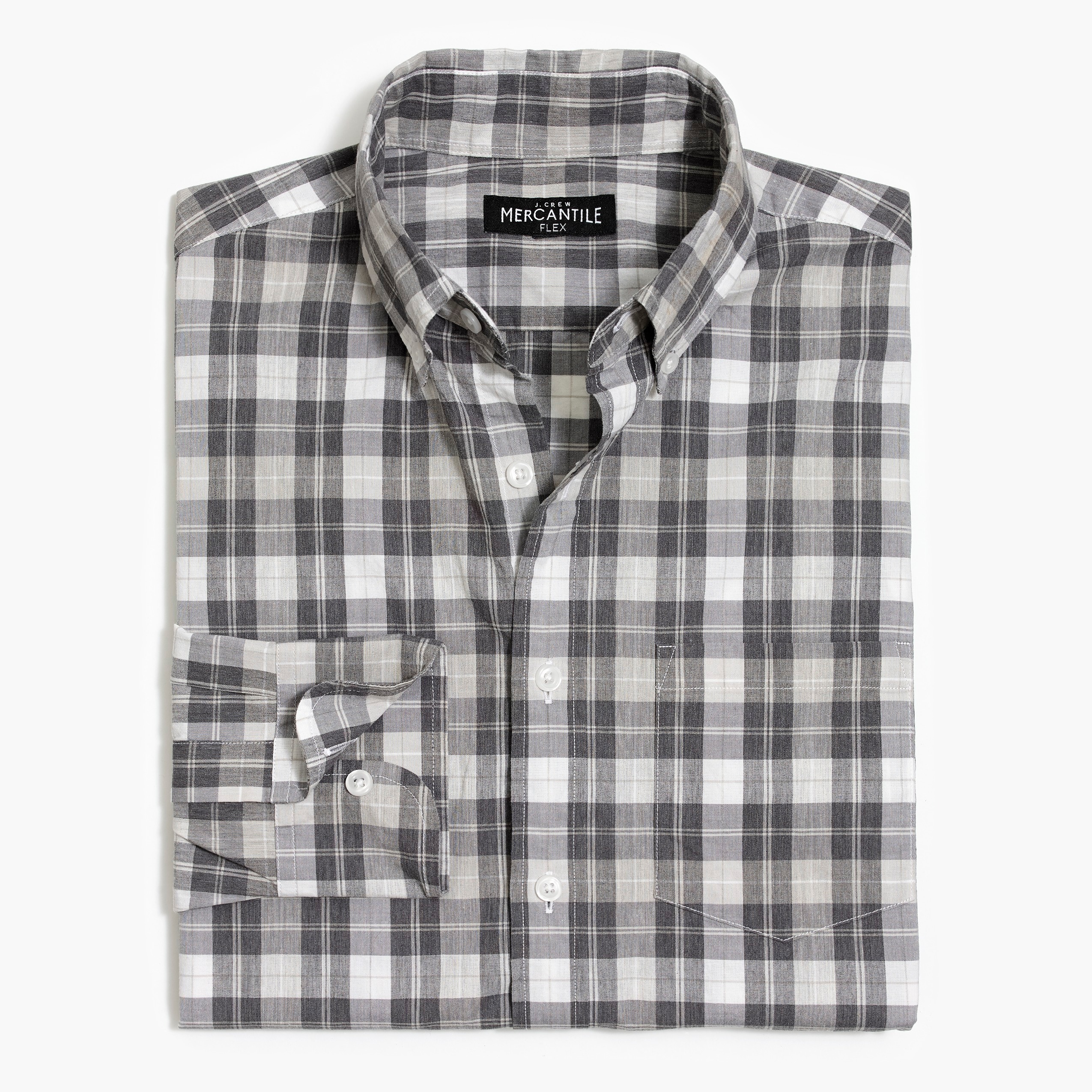 factory mens Classic flex washed shirt in plaid