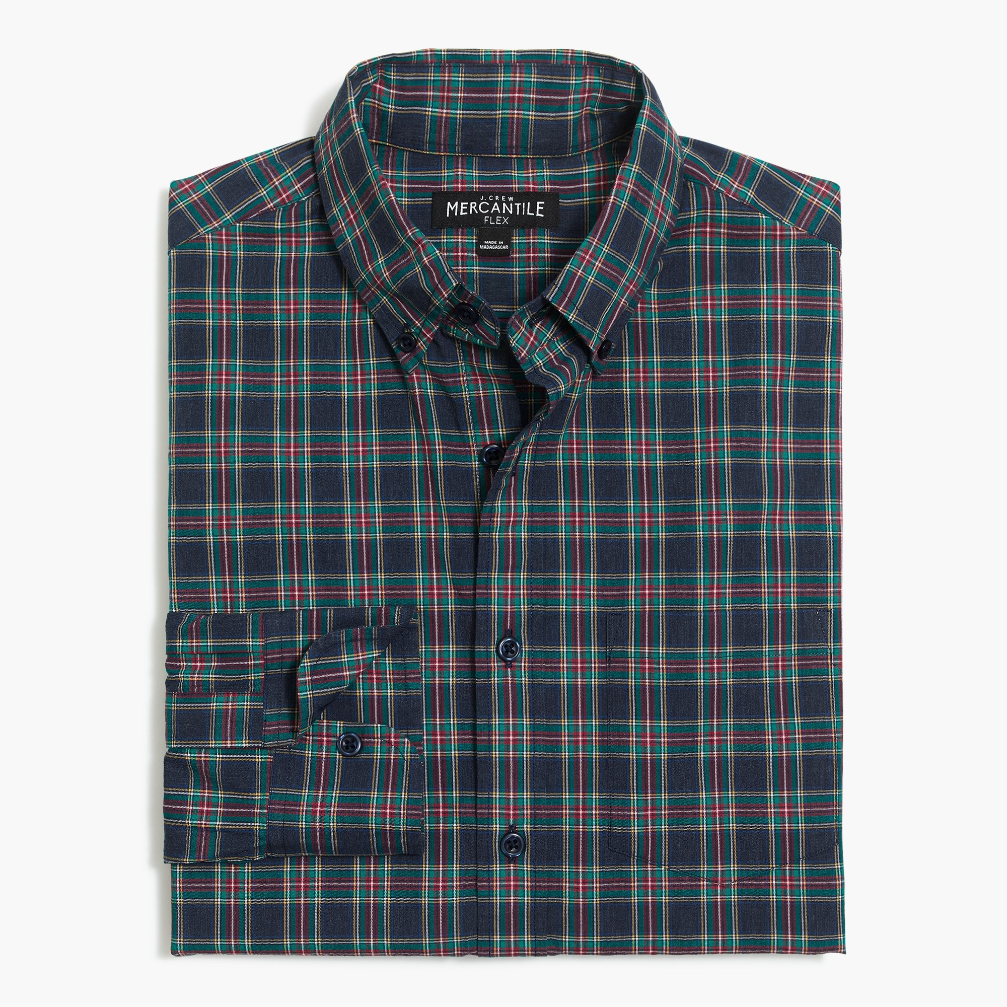 Image 2 for Classic flex heather washed shirt in tartan