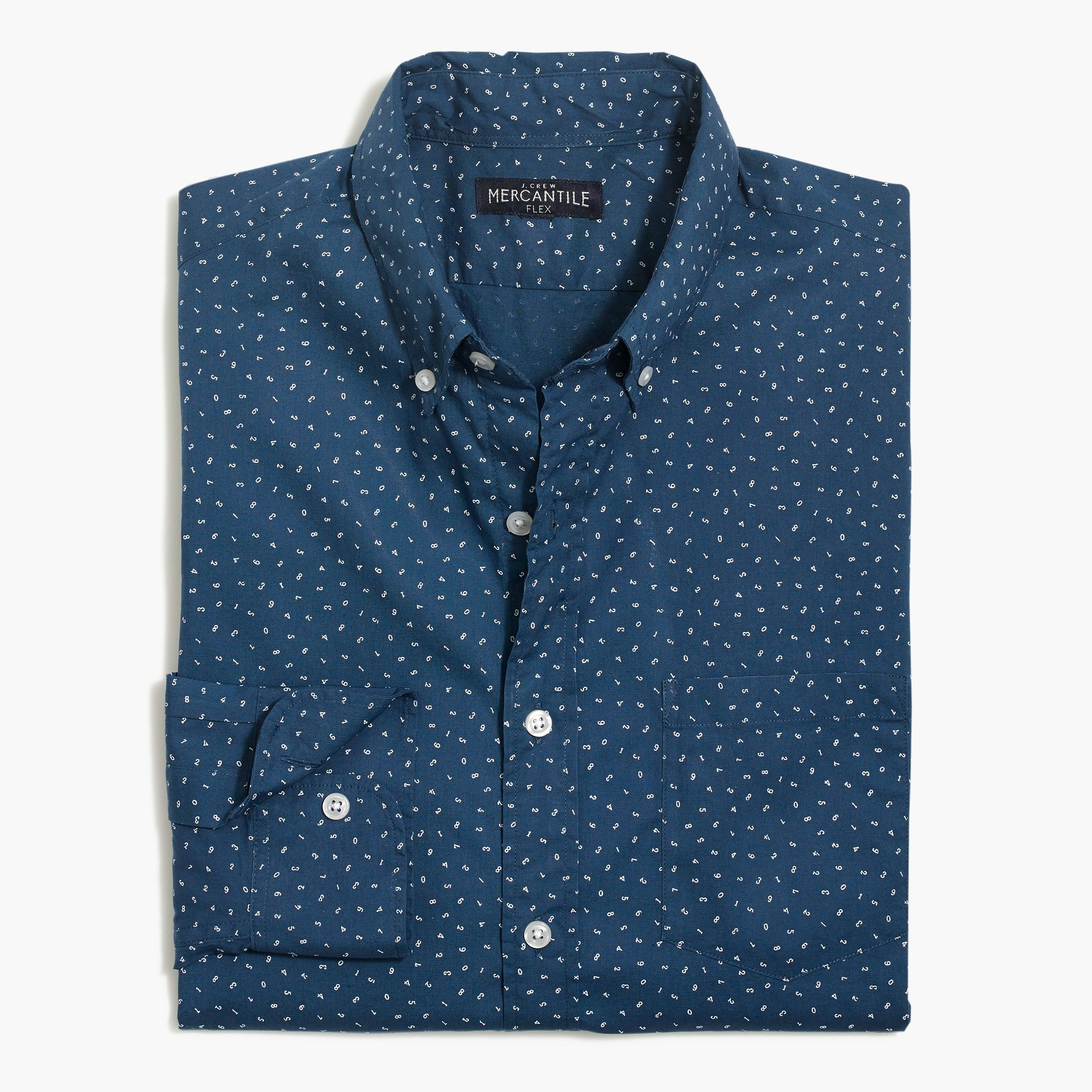 factory mens Classic flex washed shirt in print