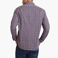 Image 3 for Floral print flex casual shirt