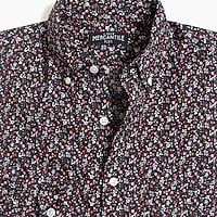 Image 4 for Floral print slim flex casual shirt
