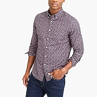 Floral print slim flex casual shirt