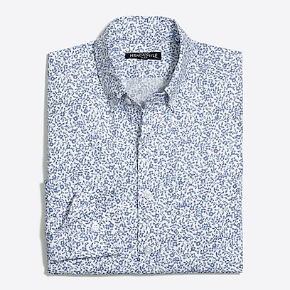 factory mens Floral print flex casual shirt