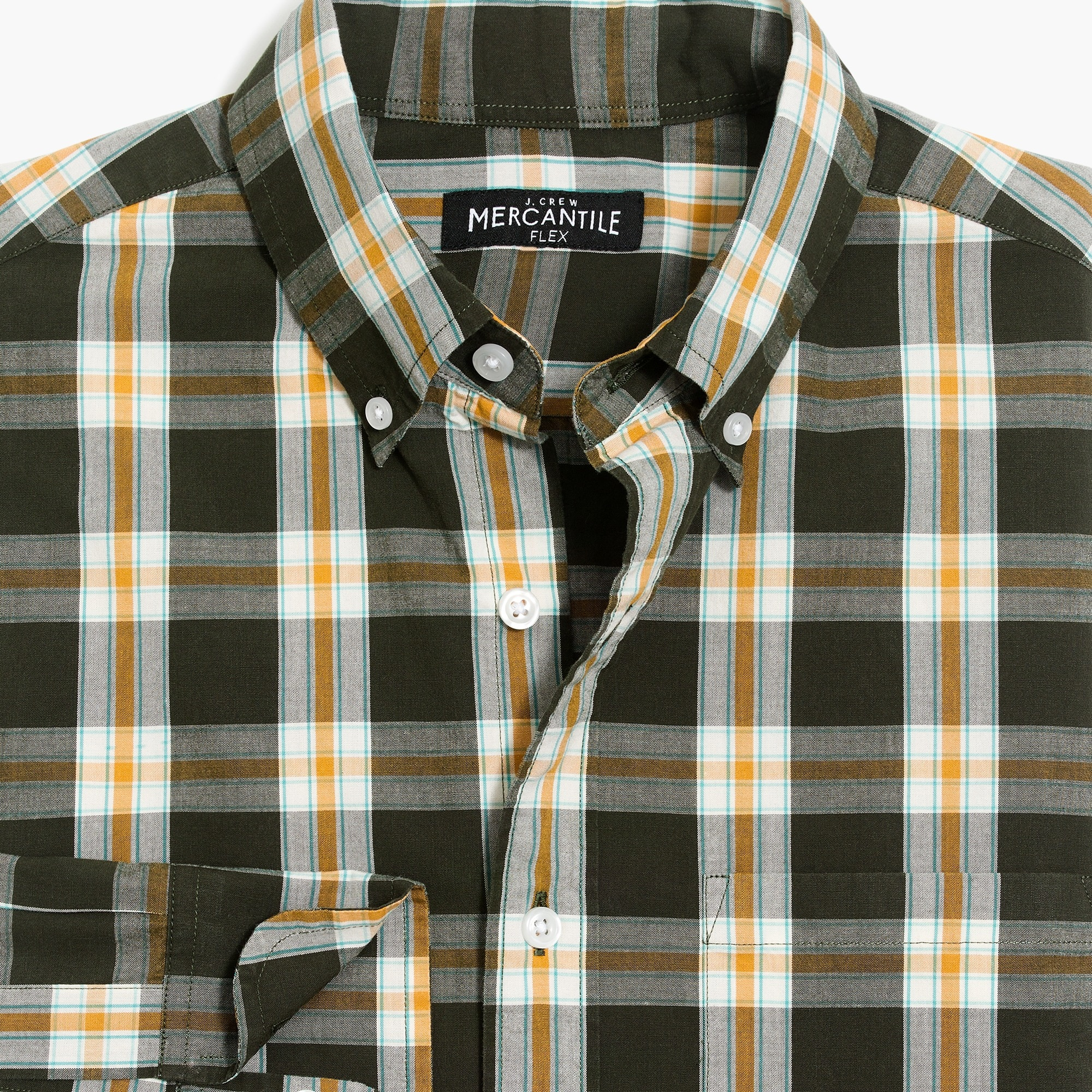 Image 4 for Slim flex washed shirt in plaid