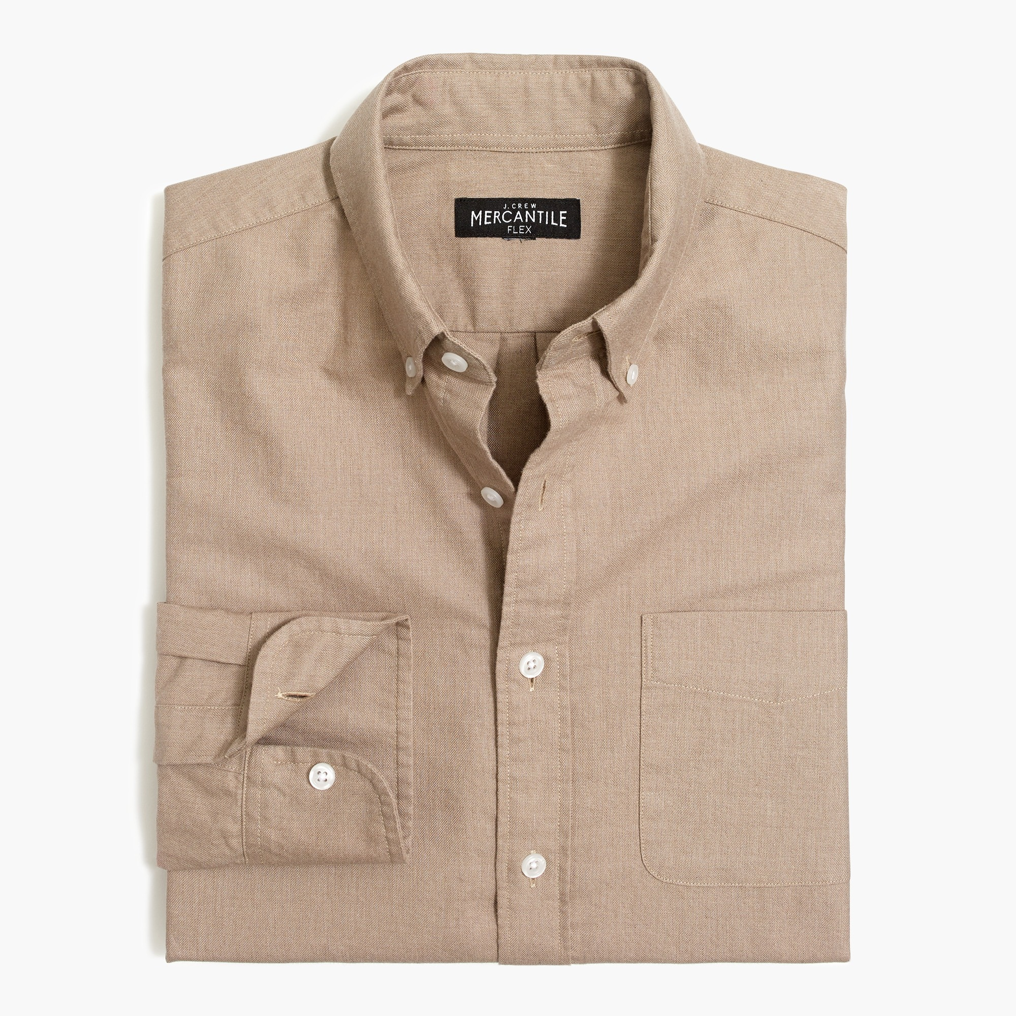 factory mens Slim heather flex oxford shirt