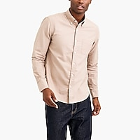 Slim heather flex oxford shirt