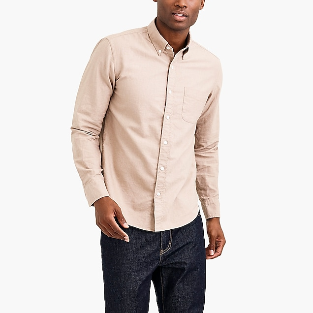 j.crew factory: slim heather flex oxford shirt