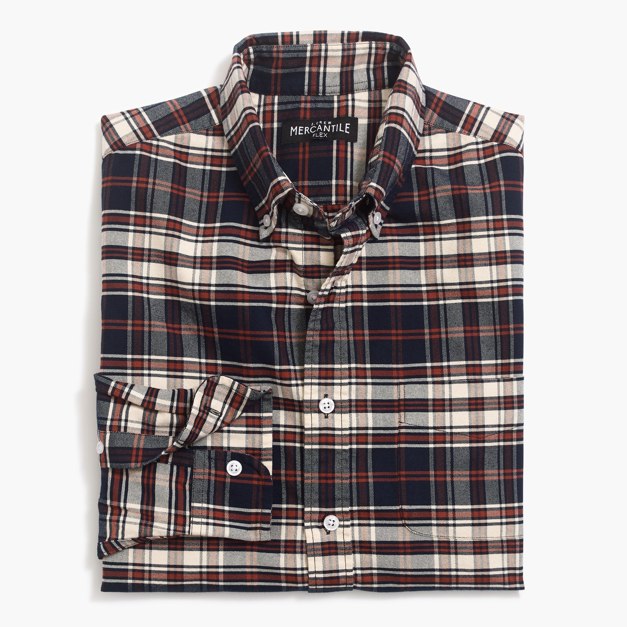 factory mens Flex oxford shirt in plaid