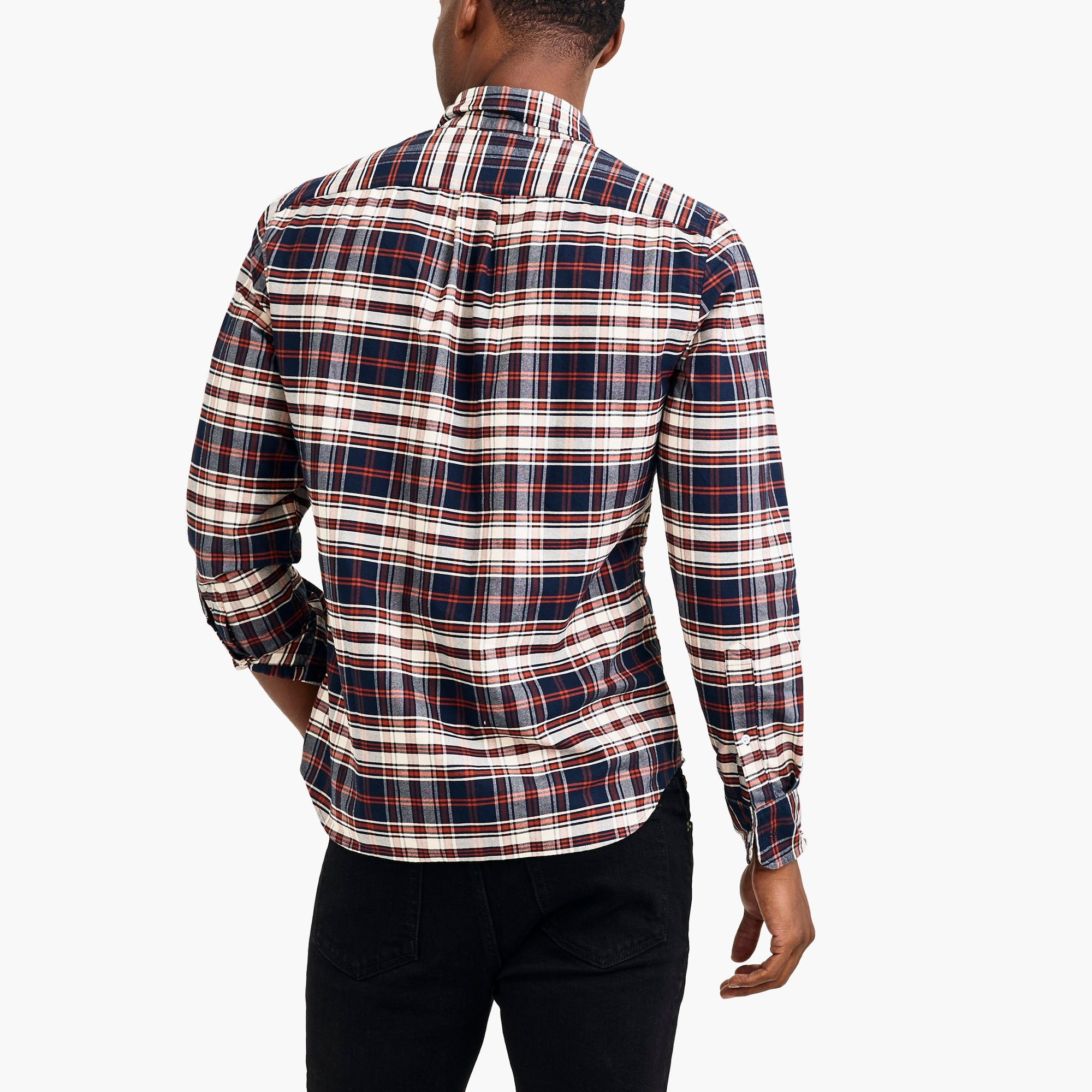 Flex oxford shirt in plaid