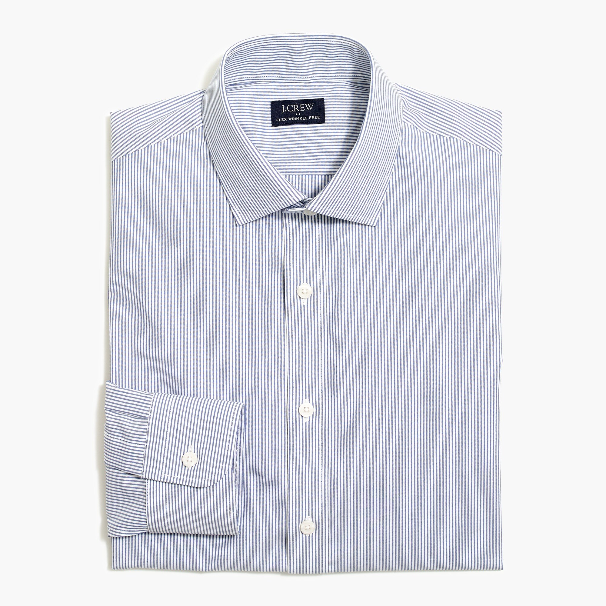 factory mens Thompson classic wrinkle-free dress shirt in stripe