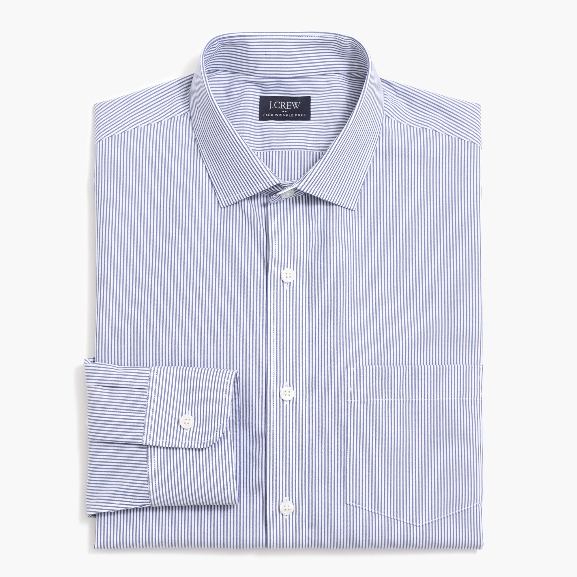 factory mens Slim Thompson flex wrinkle-free dress shirt in stripe