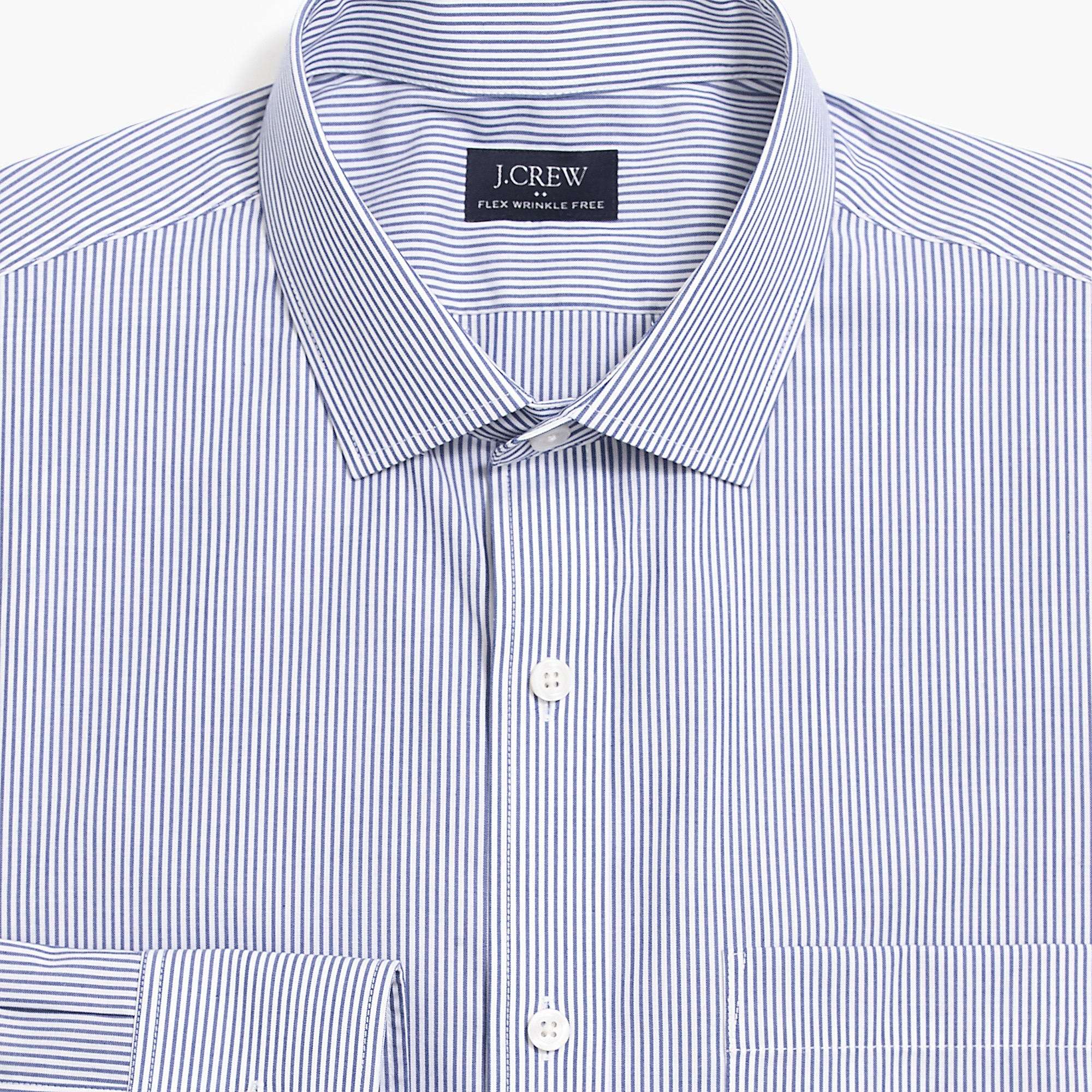 slim thompson flex wrinkle-free dress shirt in stripe : factorymen wrinkle-free dress shirts